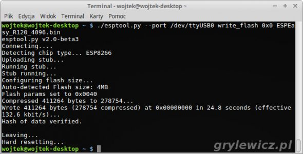 write_flash esptool