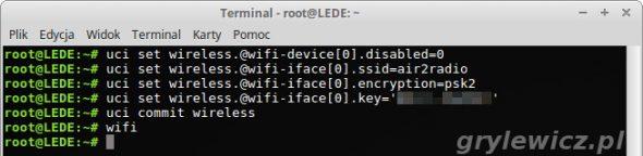 LEDE włączenie WiFi