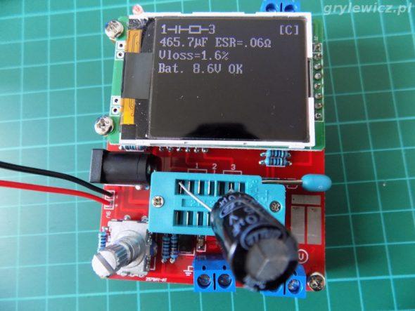 Tester - kondensator elektrolityczny