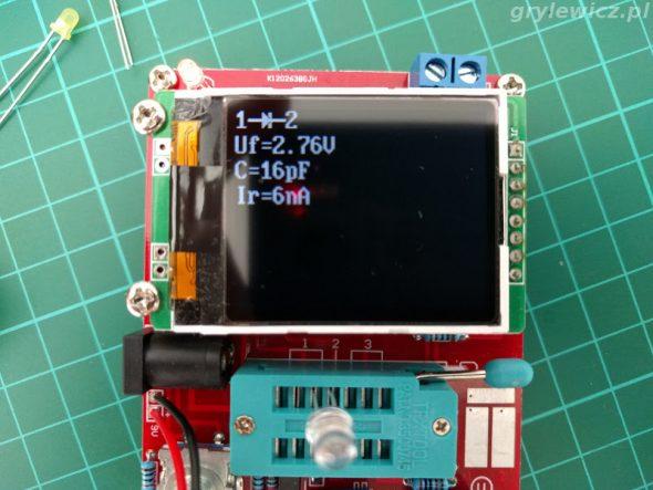 Tester - pomiar białej LED