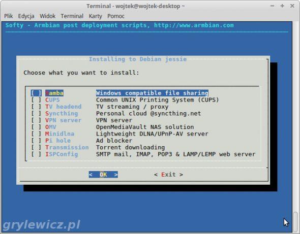 Softy - instalacja oprogramowania