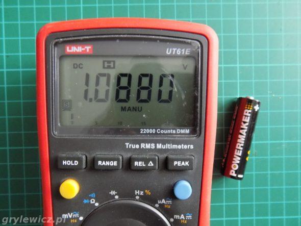 Rozładowana bateria 1,1V