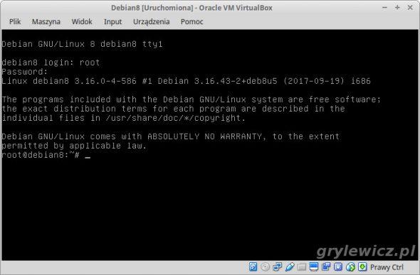 Debian na maszynie wirtualnej