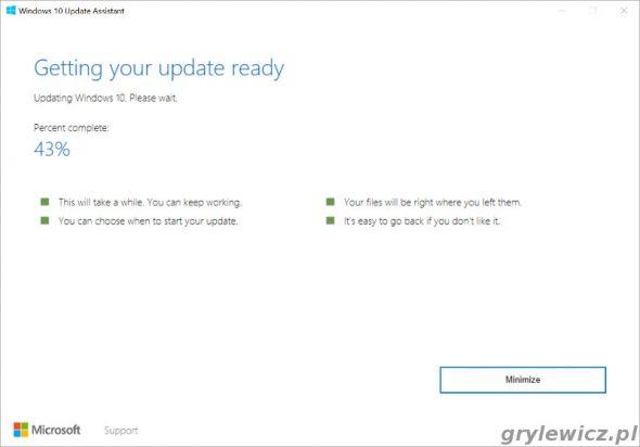 Aktualizacja Windows 10 do nowej wersji