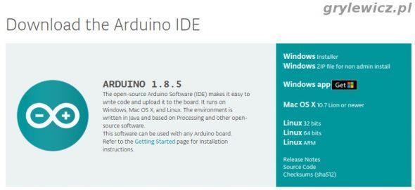 Arduino IDE pobieranie