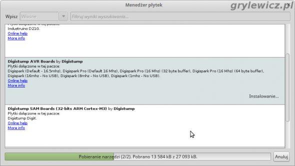 Arduino IDE instalowanie digistump