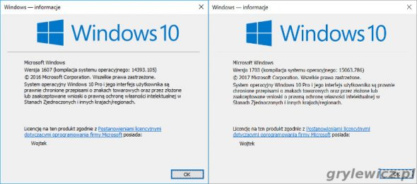 Wersja Windows 10 Winver