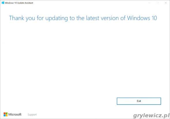 Aktualizacja Windows 10 zakończona sukcesem
