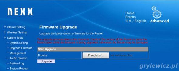Nexx wt3020 opcja upgrade