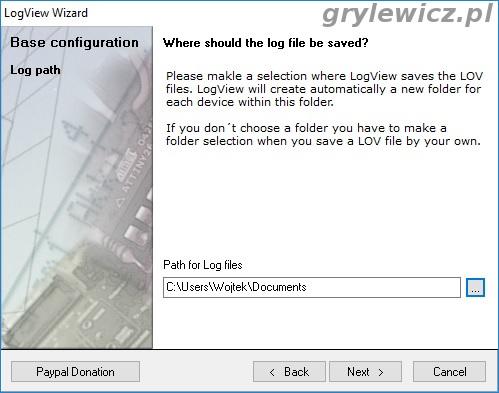 LogView - ścieżka zapisu