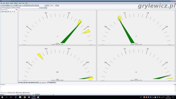 Analogowe zegary w logview
