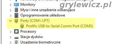 Prolific - port COM