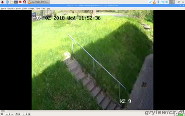 Stream pomocniczy RTSP VLC RPi