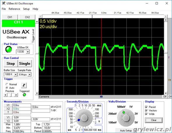 PWM 20% mocy LED