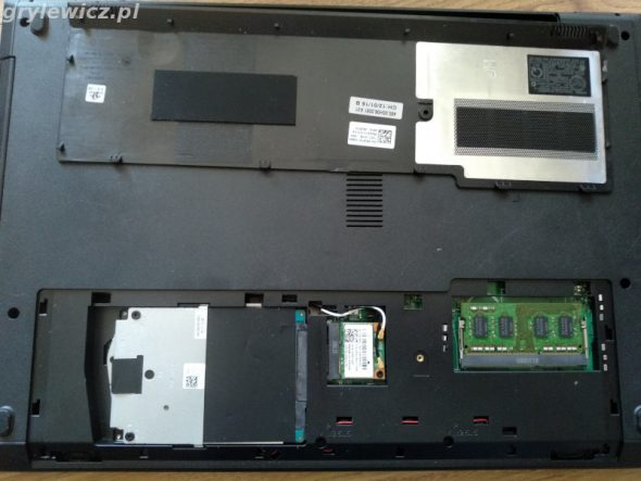 Dolna pokrywa laptopa